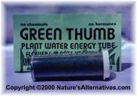 positive energy green thumb tube, structure water